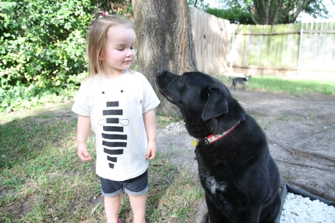 toddler and dog | bebewears.com